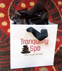 Tranquility Spa Scarsdale Gift Certificate Bag